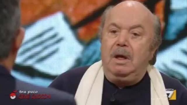 Lino Banfi show a DiMartedì: imita Renzi e attacca Virginia Raggi