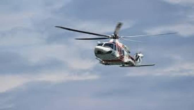 elicottero cade a roma