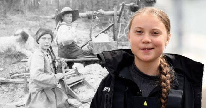 Greta Thunberg in una vecchia foto