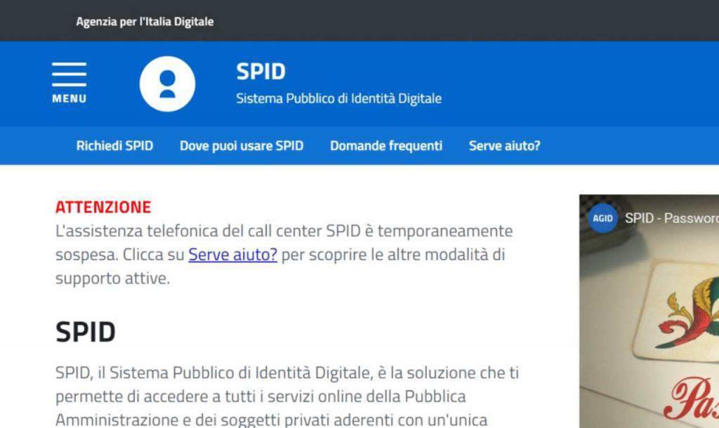 SPID identità digitale multe