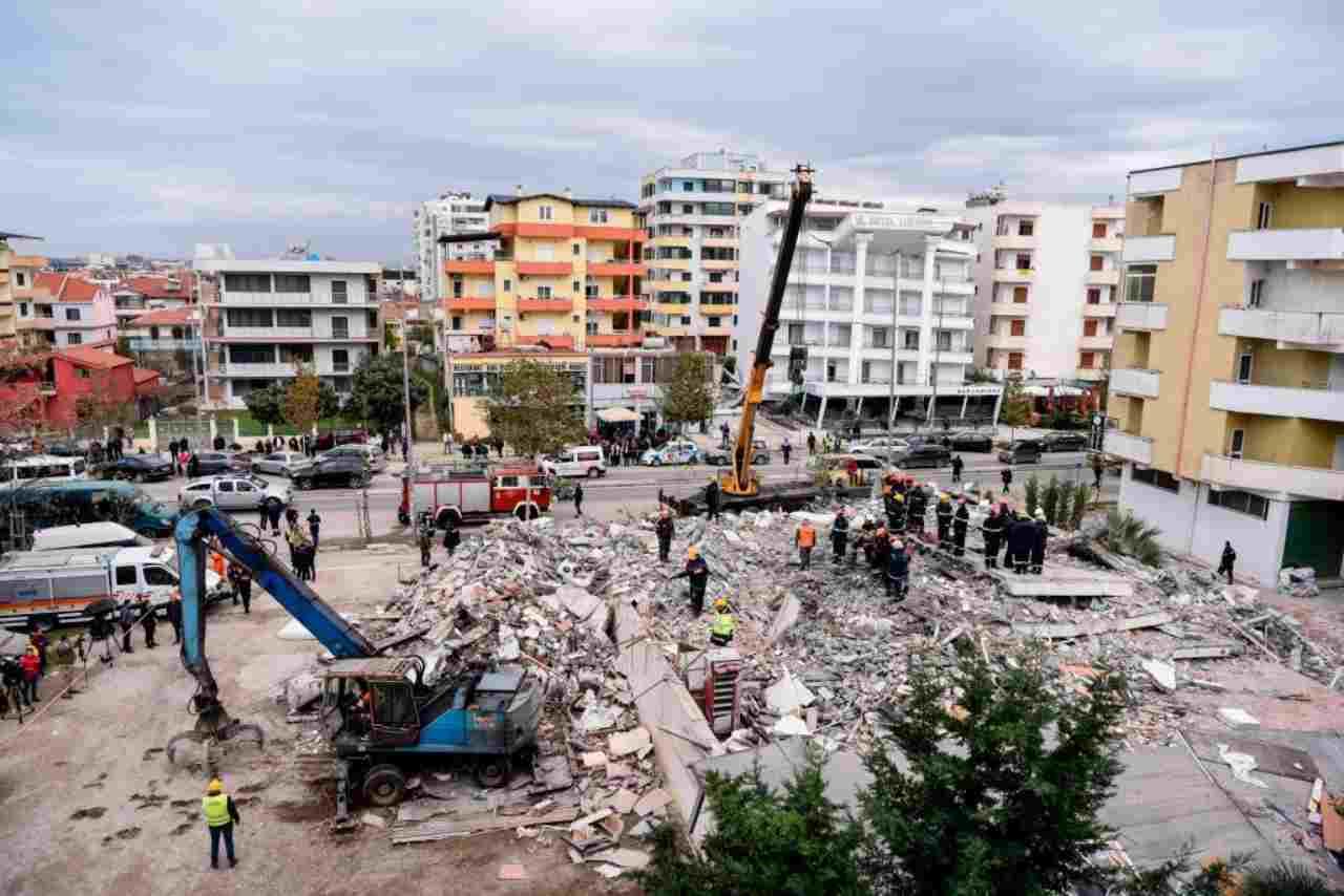 Terremoto Albania, un'immagine del disastro