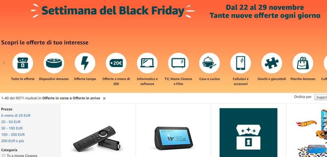 Amazon sconti Black Friday