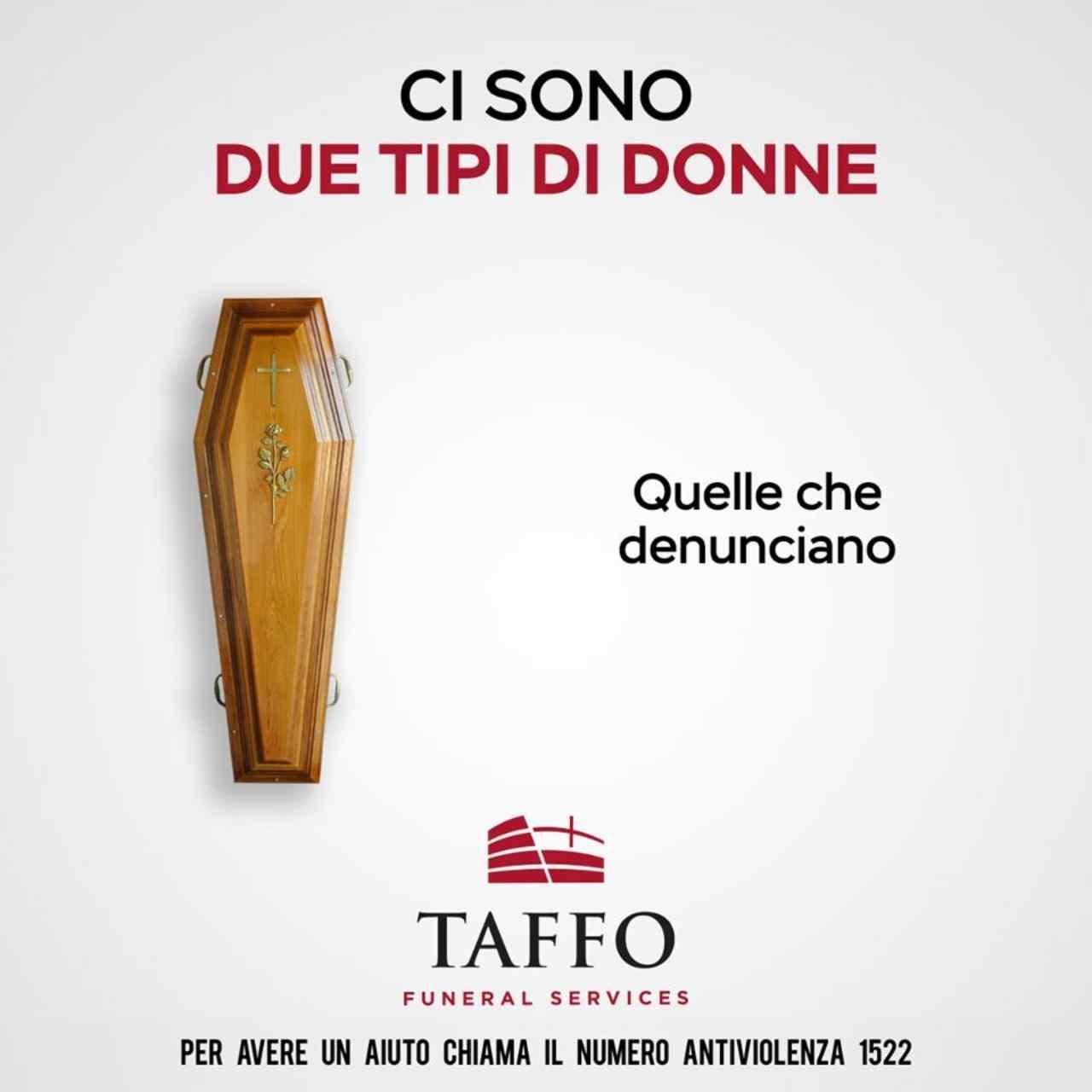 Taffo, pubblicità social contro violenza sulle donne