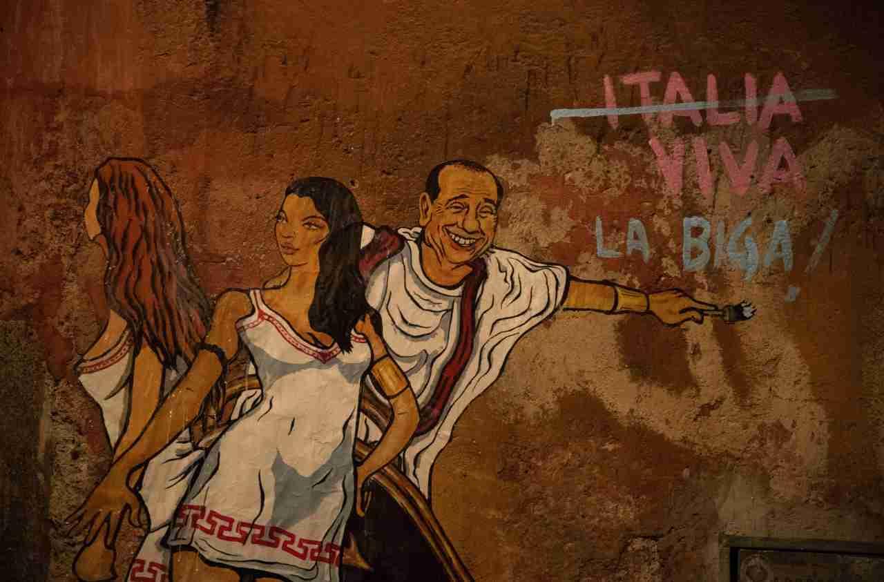 Berlusconi murales