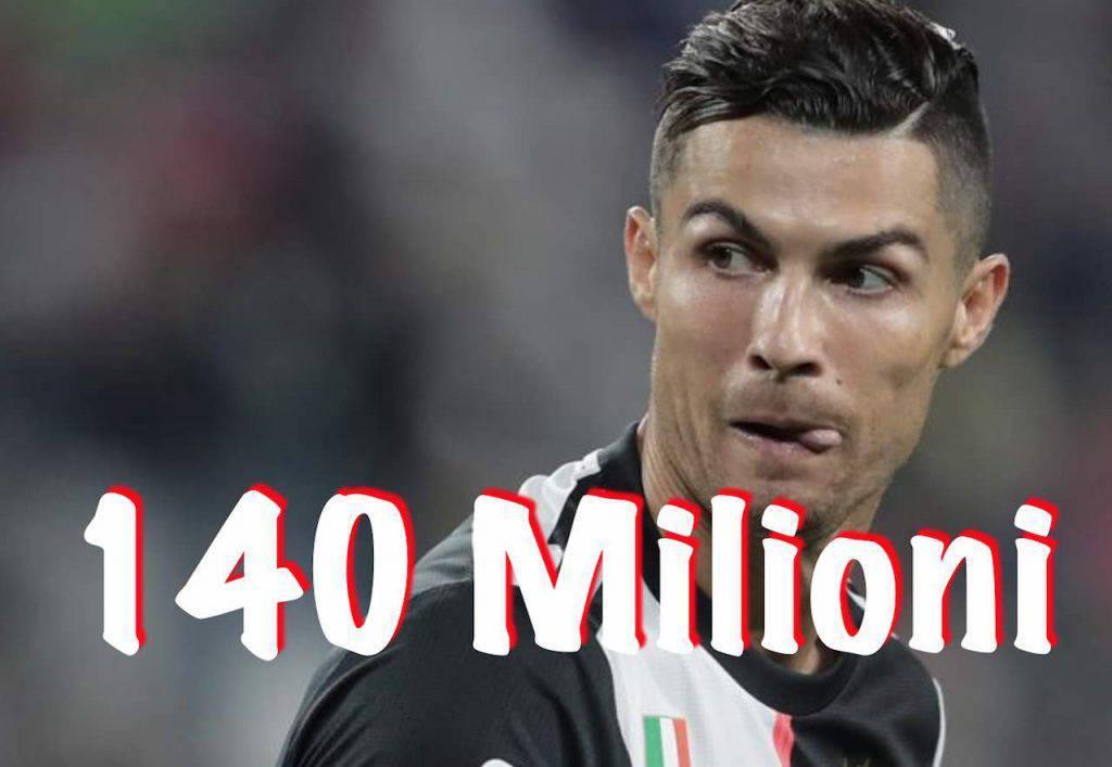 Cristiano Ronaldo 140 milioni