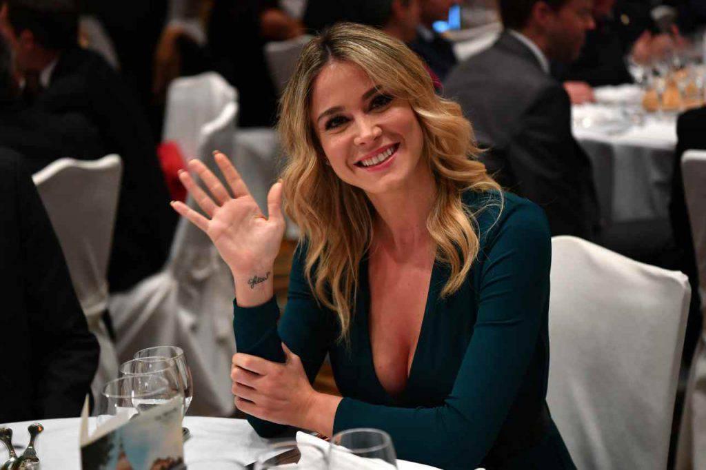 La gaffe di Diletta Leotta con il portiere Handanovic