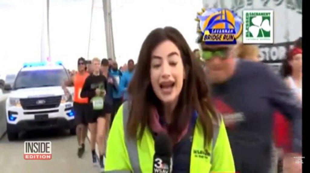 Giornalista molestata da maratoneta