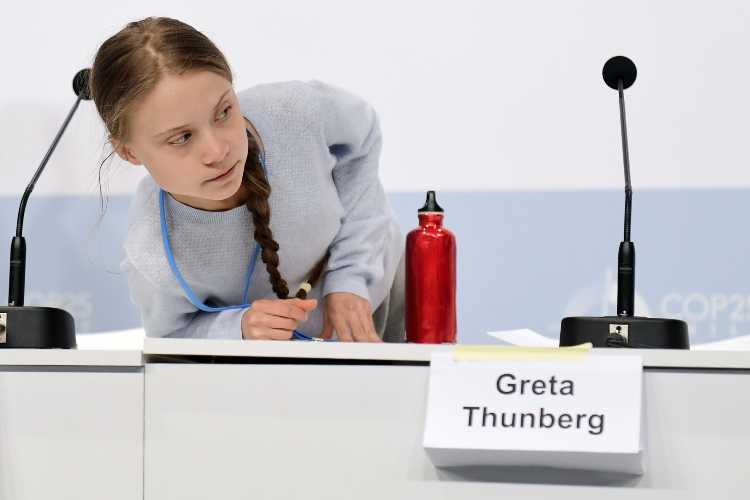 Greta Thunberg posseduta