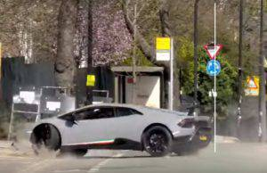 Lamborghini distrutta