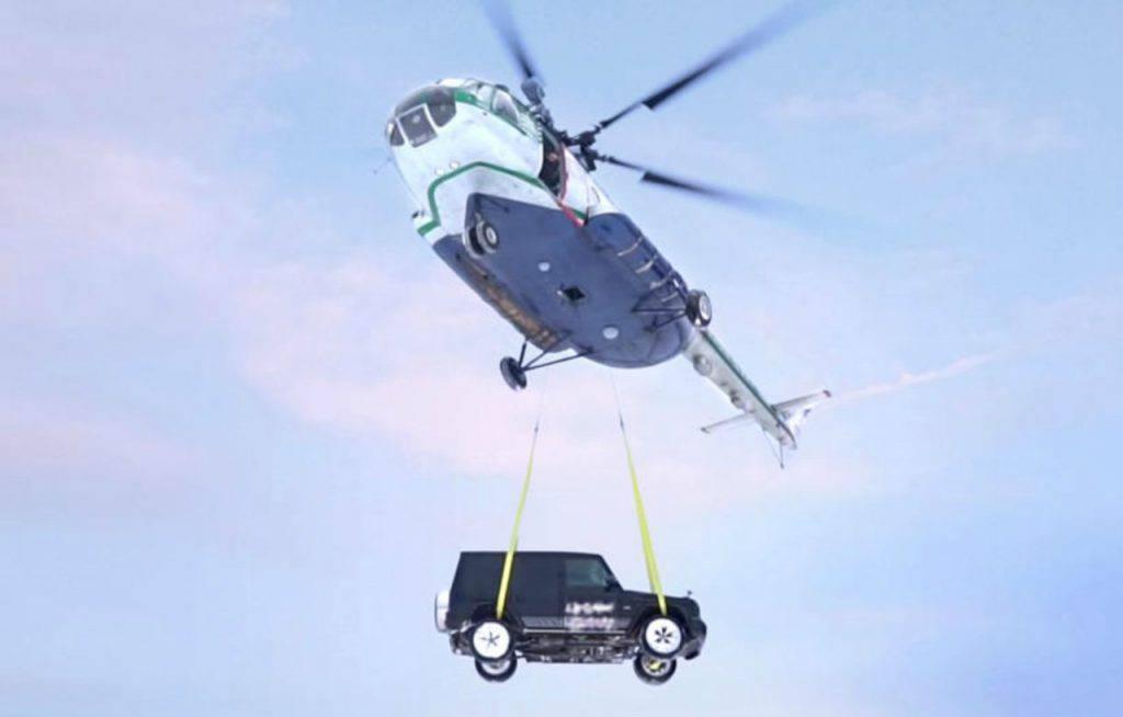 Igor Morozo Mercedes elicottero