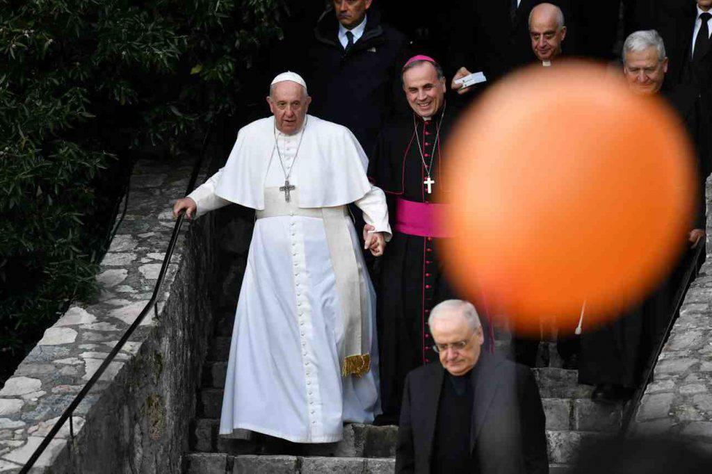 Papa Francesco Greccio presepe
