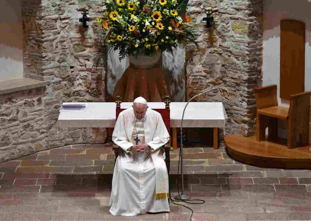 Papa Francesco presepe Greccio San Francesco