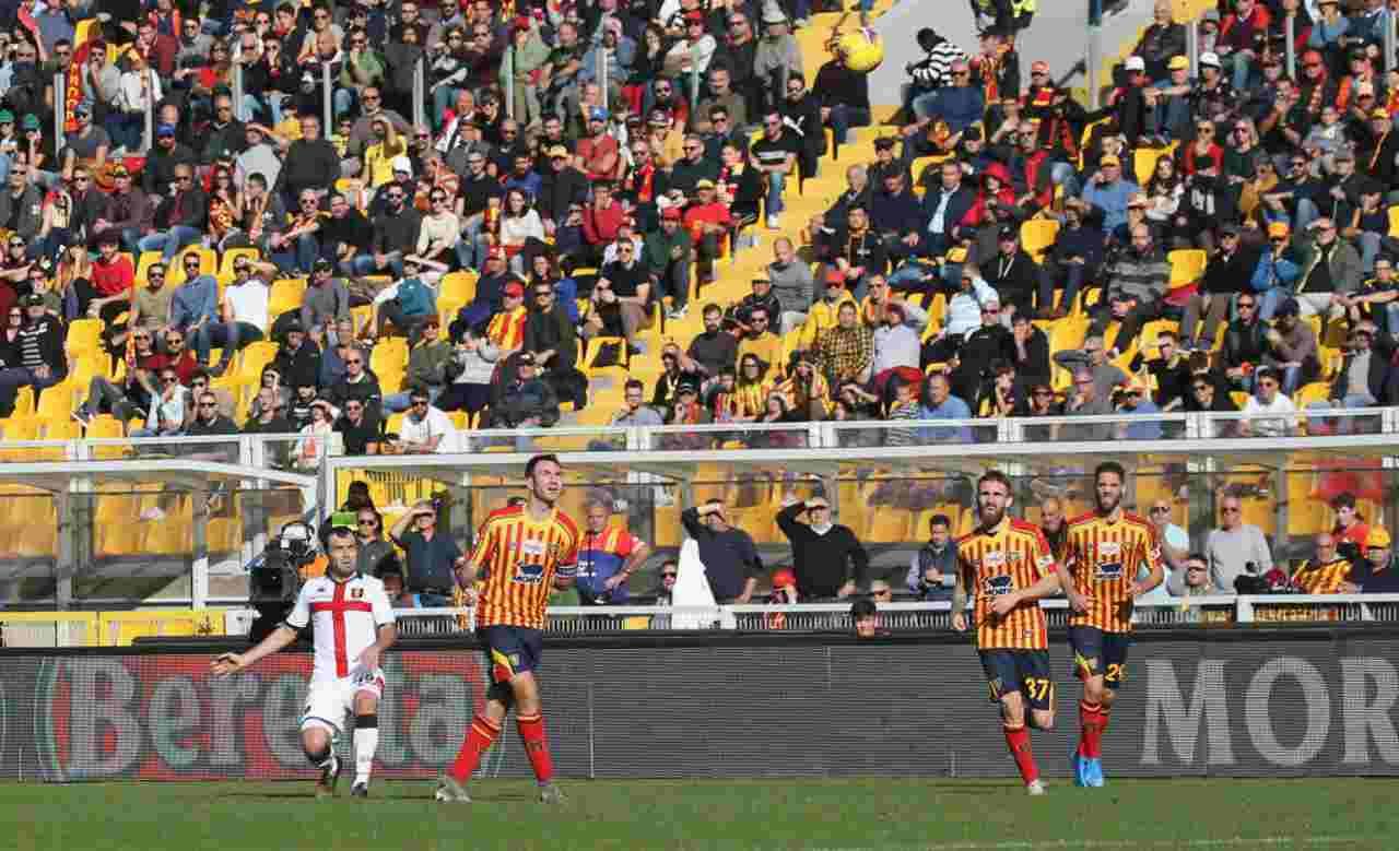 Goran Pandev, gol in Lecce-Genoa