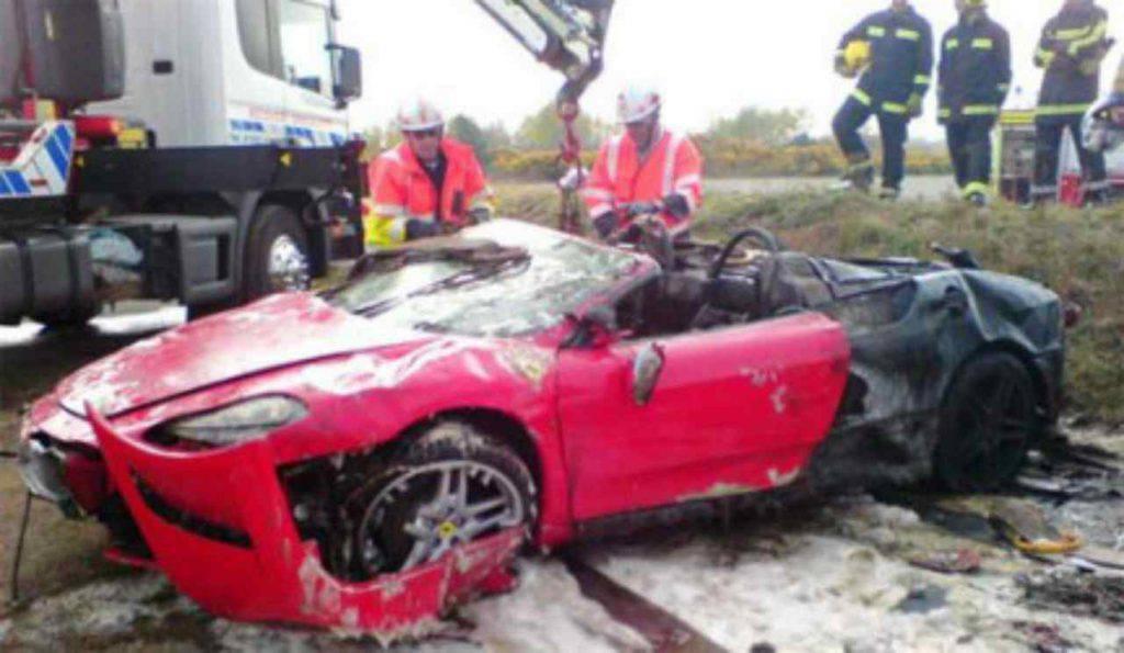 Ferrari 430 Spider incidente