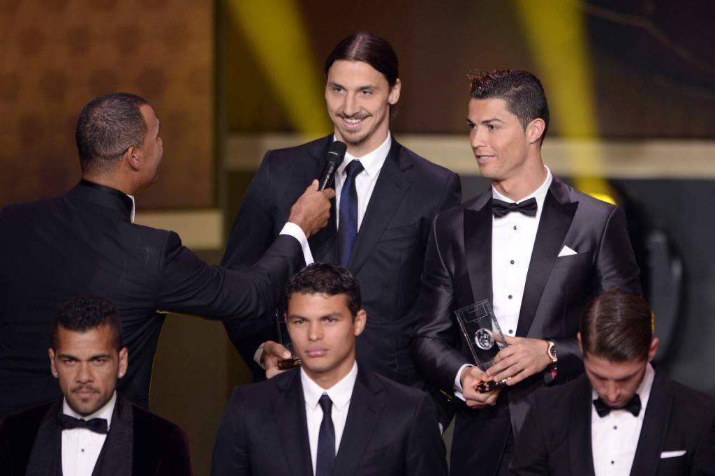 Cristiano Ronaldo dà il benvenuto a Ibrahimovic