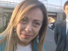 Giorgia Meloni cantiere E45 Cesena