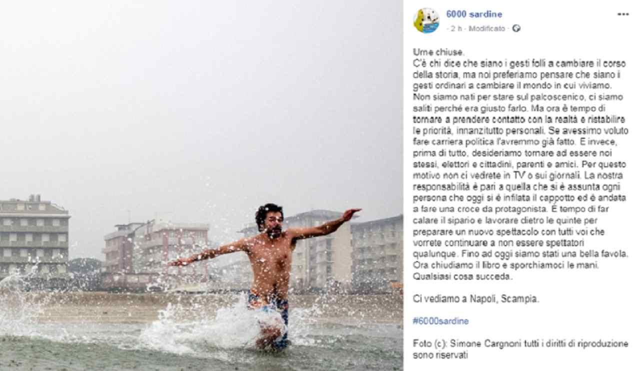 Sardine pagina Facebook