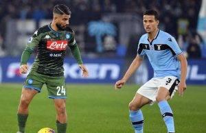 Lazio-Napoli formazioni tv streaming