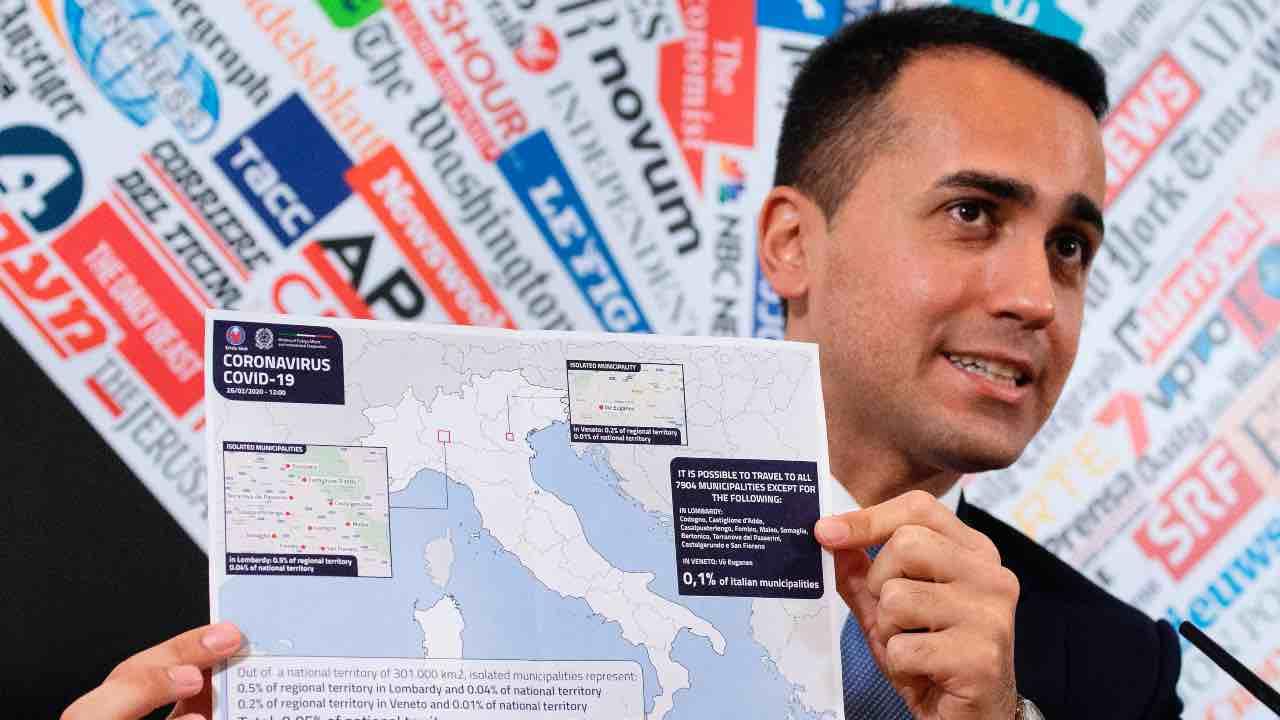 Luigi Di Maio  conferenza stampa Associazione Stampa Estera