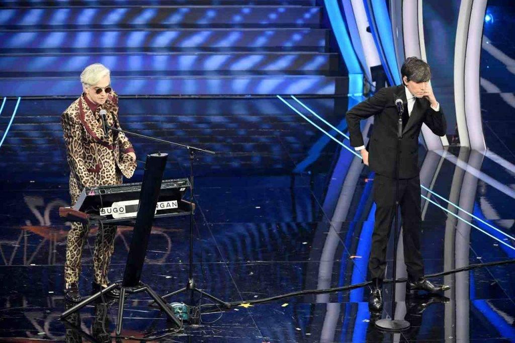 Bugo lascia il palco di Sanremo