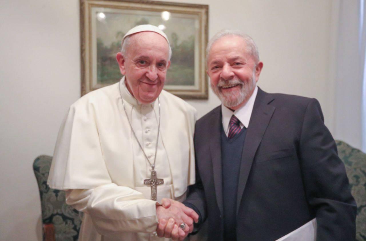 Papa con Lula