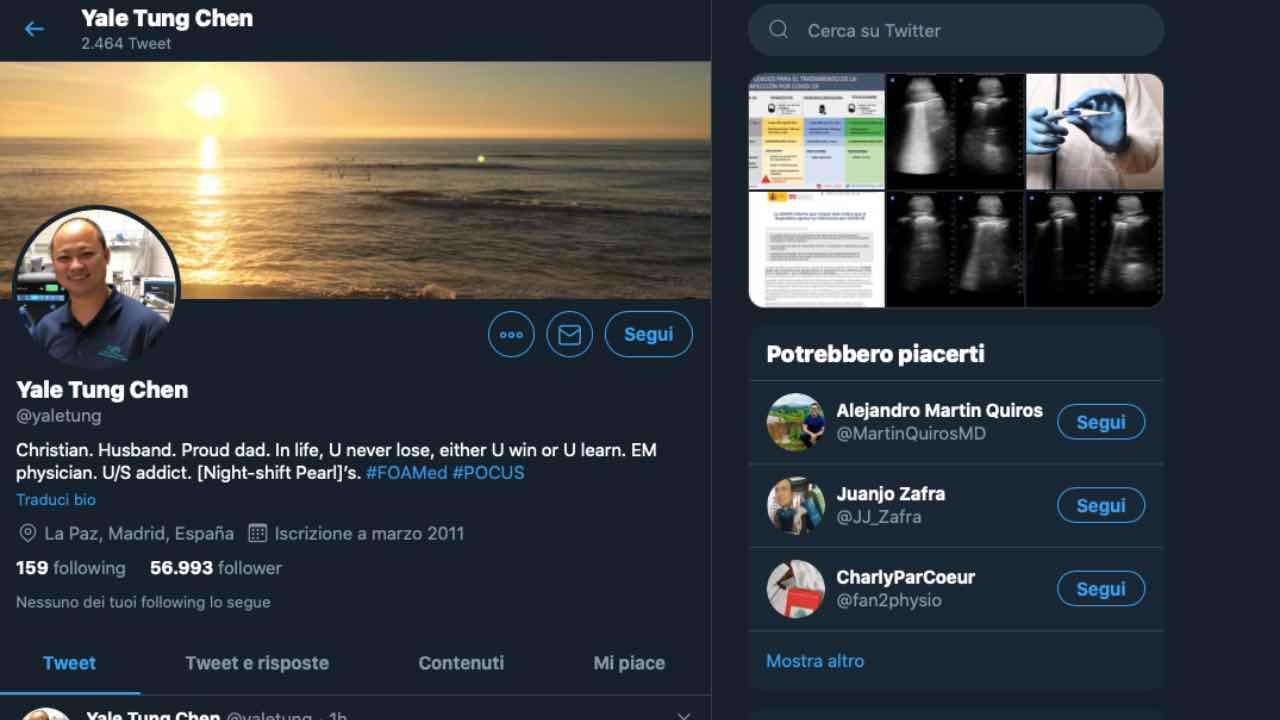coronavirus medico twitter documentare informazioni