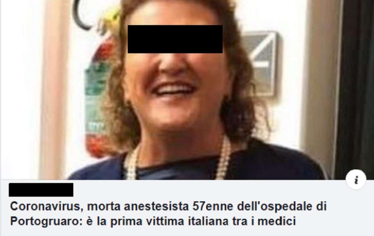 morta Anestesista Portogruaro