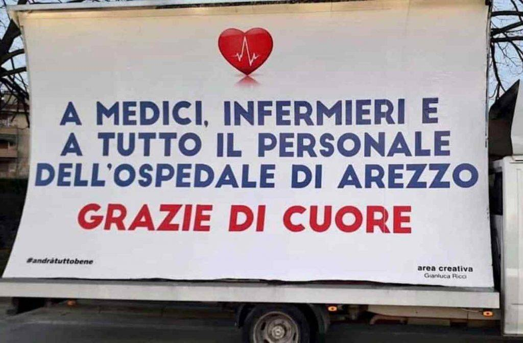 Coronavirus Arezzo solidarietà