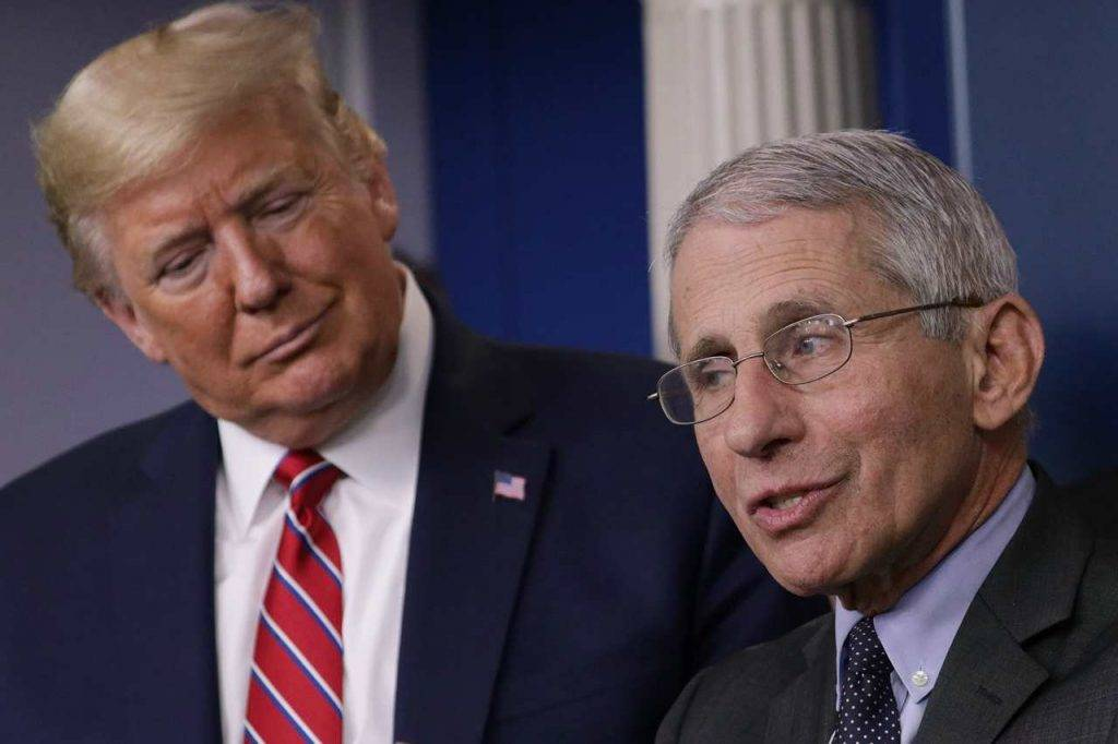 Donald Trump Anthony Fauci Coronavirus Usaa