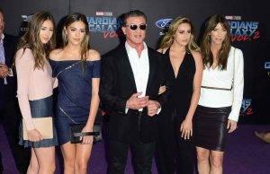 Syvester Stallone e famiglia