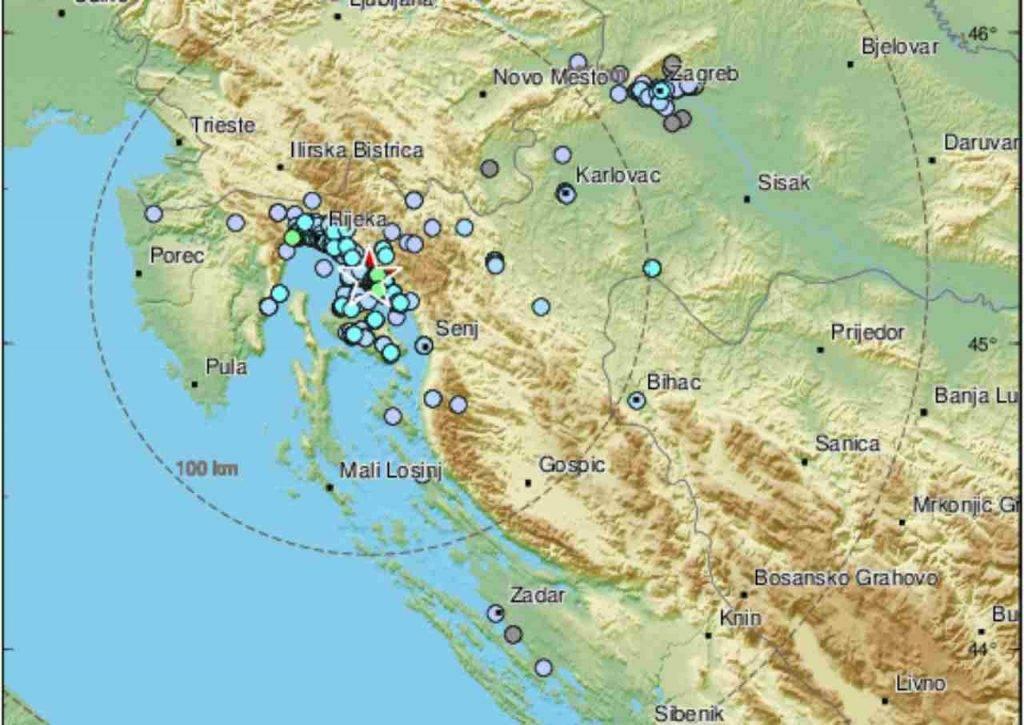Terremoto Croazia