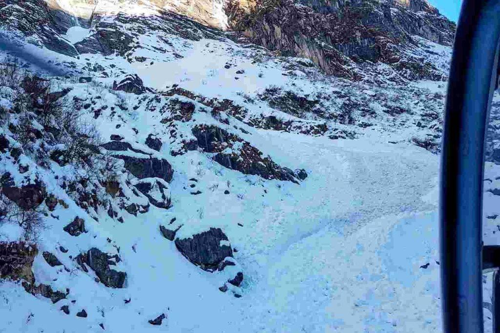 Valanga a Cortina d'Ampezzo