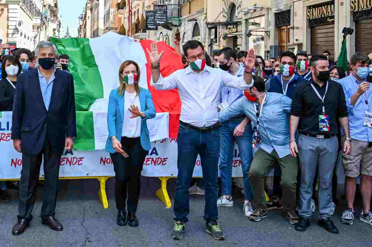 Salvini Meloni Roma