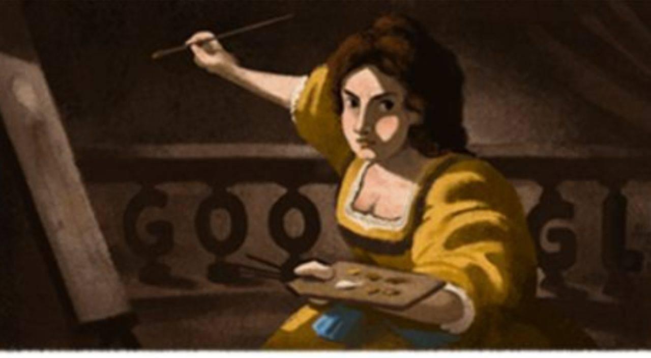 Artemisia Gentileschi - il Doodle di Google