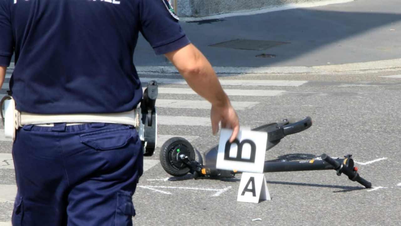 Milano Monopattino incidente