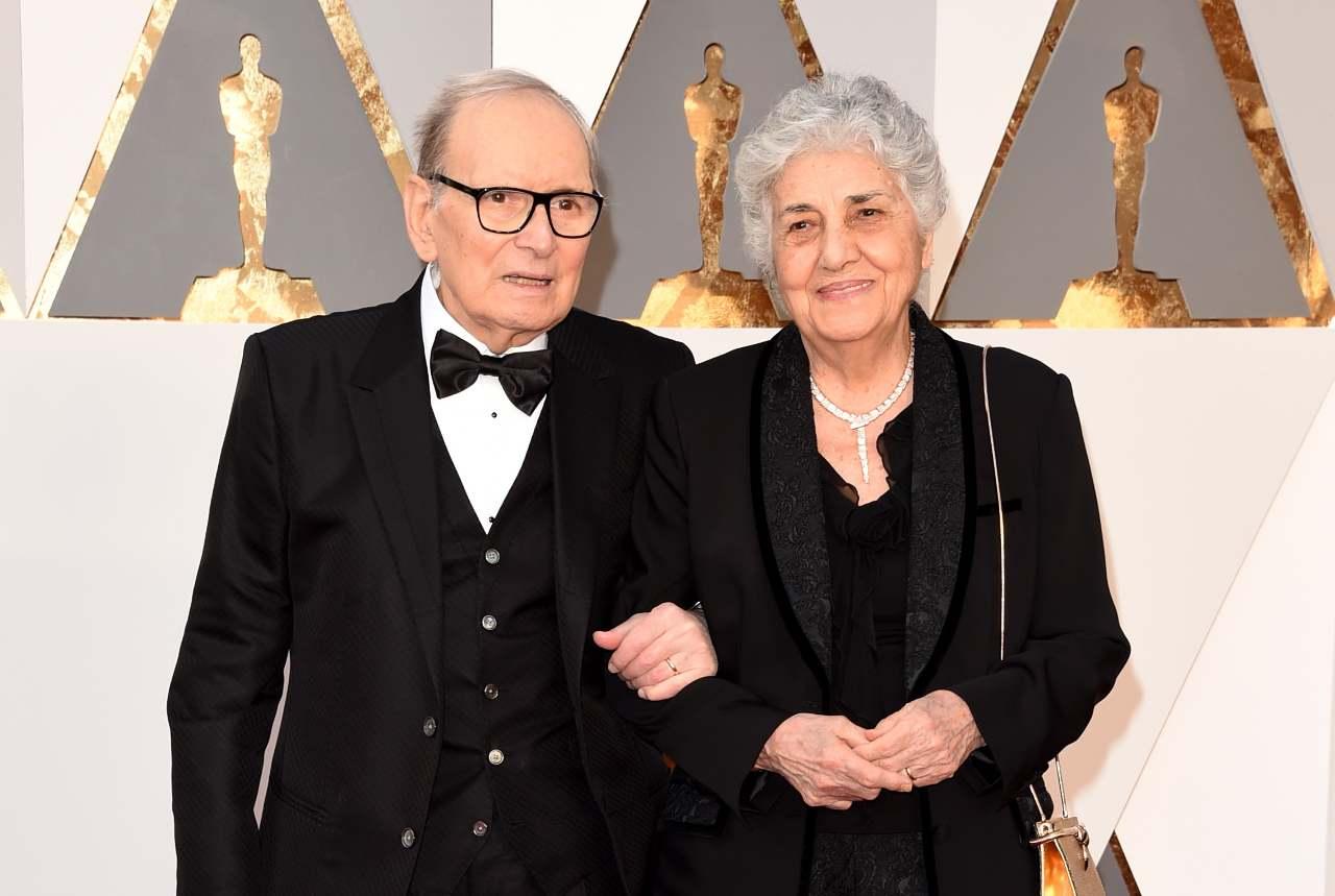 Ennio Morricone e sua moglie Maria Travia