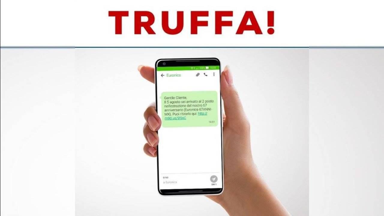 SMS truffa Euronics