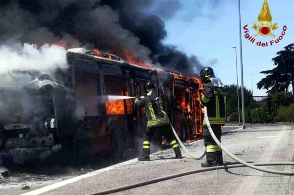 Roma incendio Atac