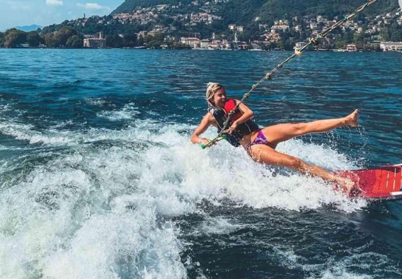 Diletta Leotta e il wake surf