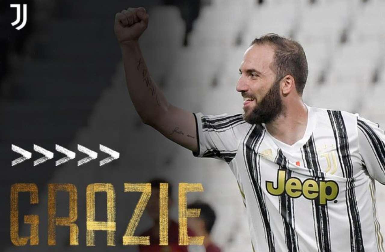 Higuain lascia la Juventus: ufficiale la risoluzione del contratto