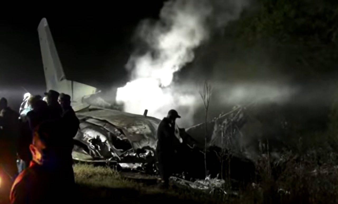 Aereo militare si schianta in Ucraina