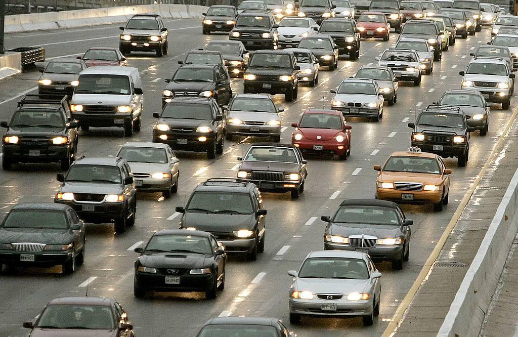 Autostrada con traffico