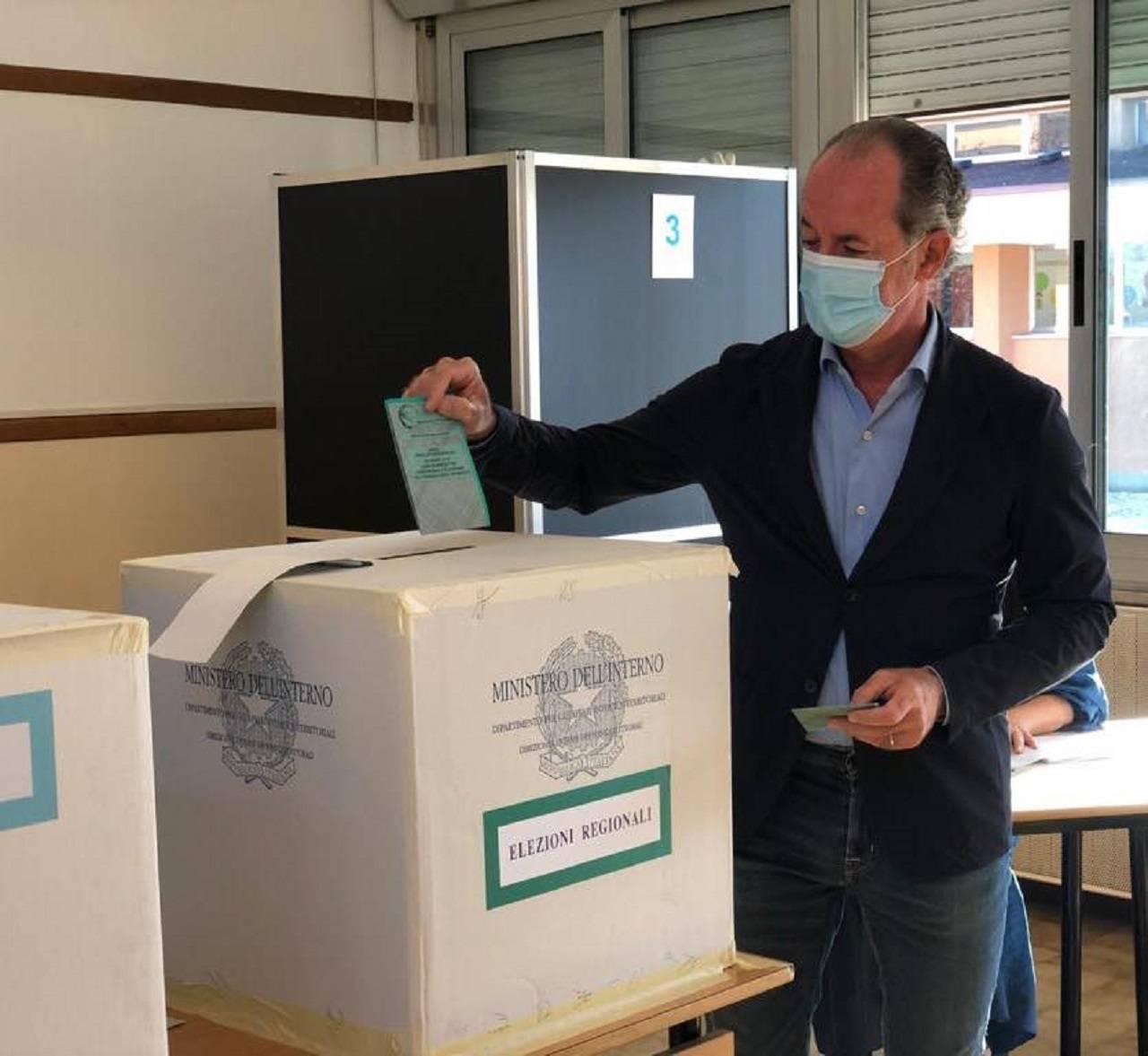luca zaia al voto
