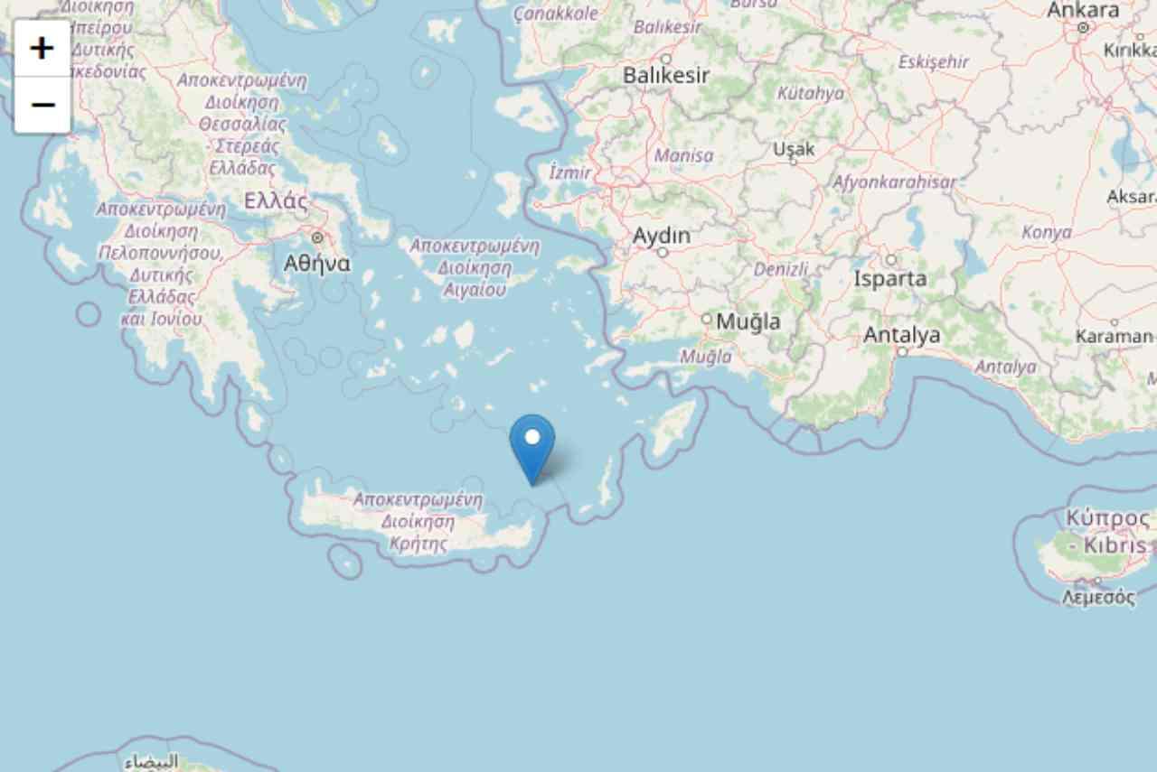 Cartina Geografica Isola Di Creta.Terremoto Grecia Trema L Isola Di Creta Scossa Di Magnitudo 5 2