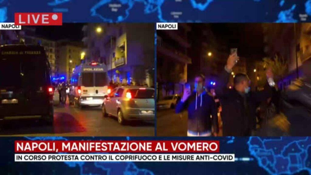 Napoli Di Nuovo In Piazza Il Vomero Contro Il Lockdown