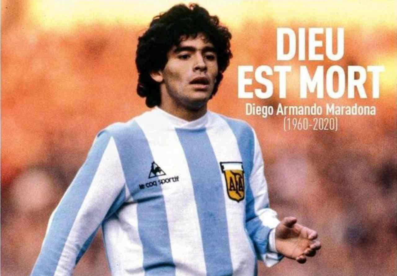 Maradona ricordo stampa