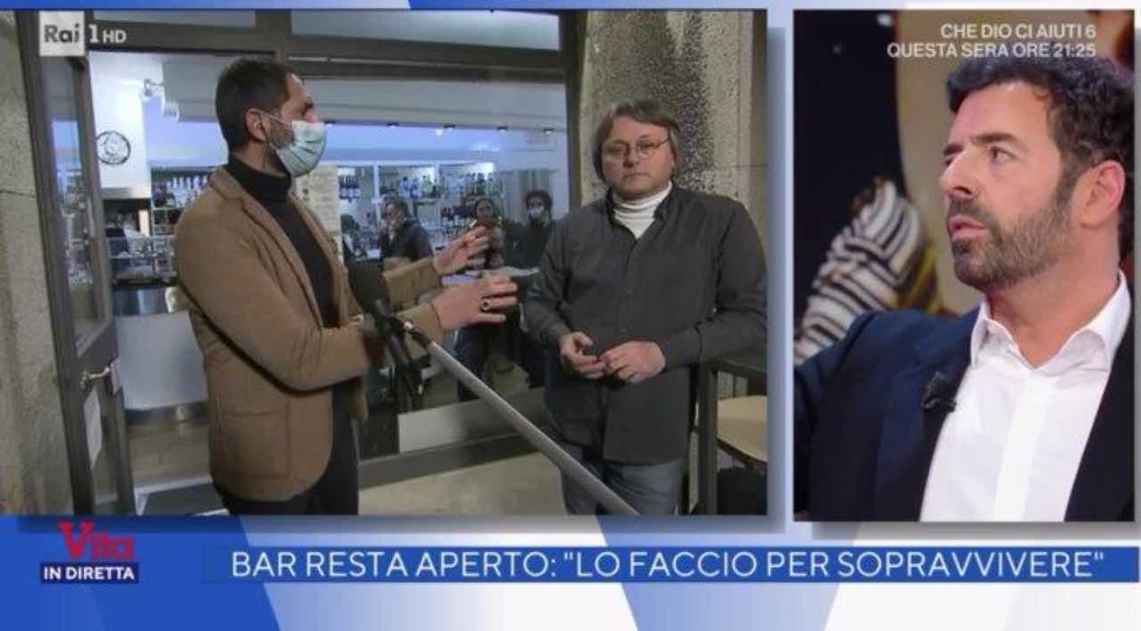 Alberto Matano ha un diverbio con un ospite: