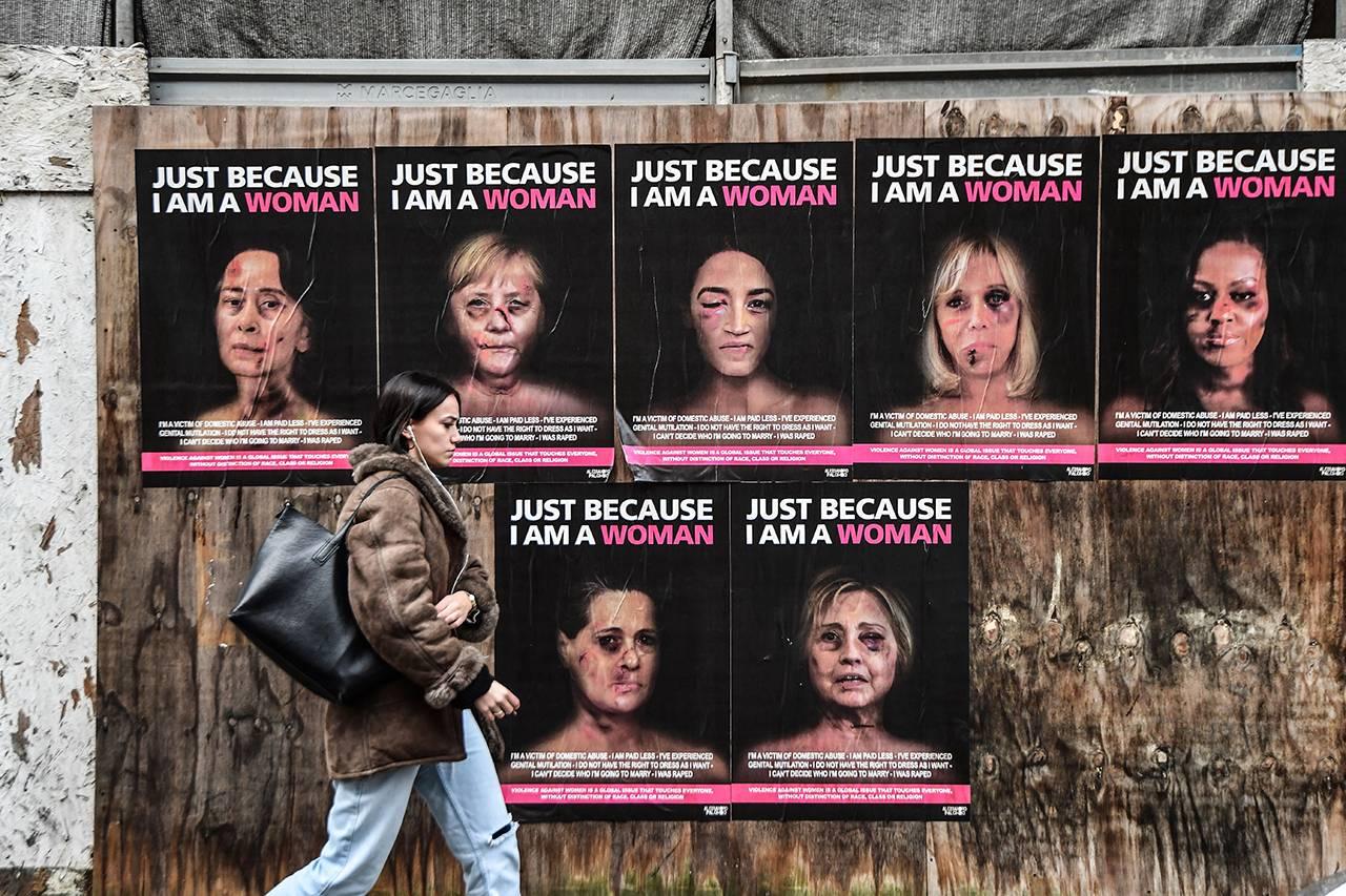 Campagna contro la violenza sulle donne del fotografo e attivista italiano Alexsandro Palombo - Getty Images