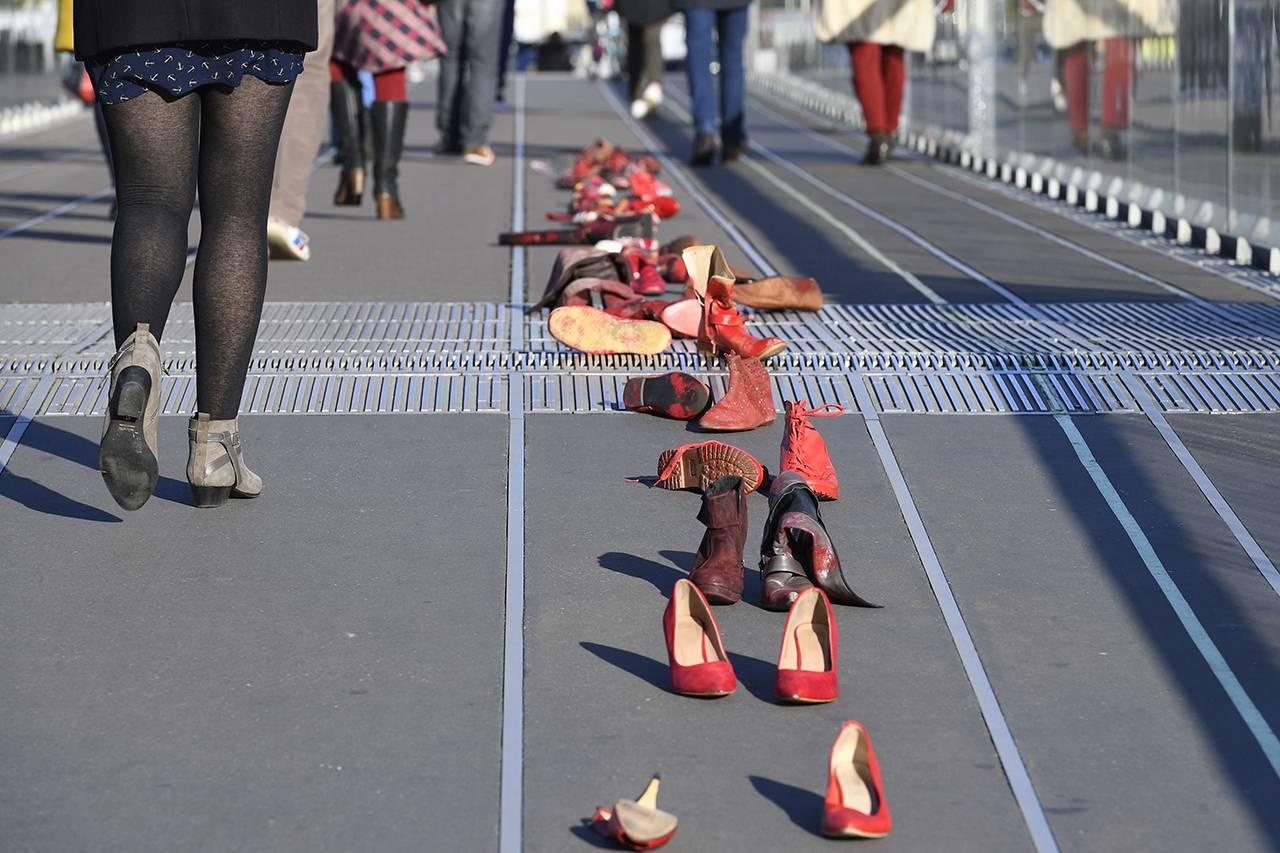 Manifestazione contro la violenza sulle donne in Francia - Getty Images