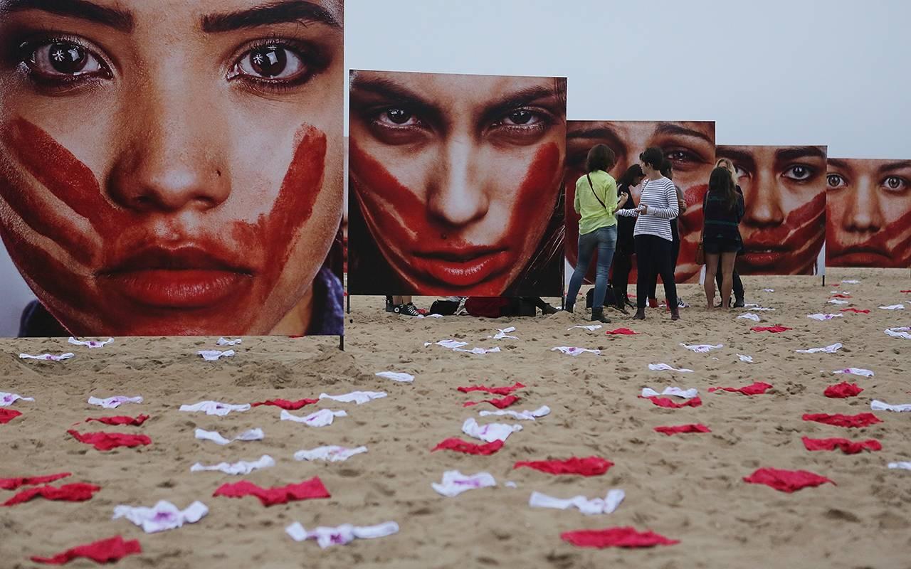 Manifestazione contro la violenza sulle donne a Rio De Janeiro - Getty Images